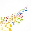 Colorful music notes fantastic vector — Stock Vector #10240982