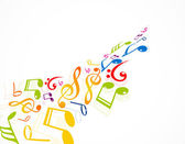 Colorful music notes fantastic vector — Stock Vector