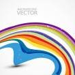 Abstract design colorful new rainbow wave — Stock Vector