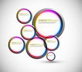 Cerchio colorato astratto vettoriale per bolle di discorso — Vettoriale Stock