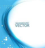 New blue shiny wave composition vector — Stock vektor