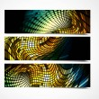 New vector set of three header design — 图库矢量图片 #10357137