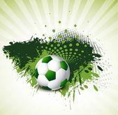 Soccer design background vector grunge — Stock Vector