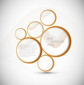 Abstract web design new circle bubble vector — Stock Vector