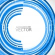 Royalty-Free Stock Vector Image: Abstract technology lines blue circle vector