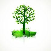 Abstracte kleurrijke groene boom voor het beste ontwerp — Stockvector