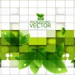 Stok Vektör: Abstract shine green lives mosaic background vector