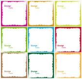 Vector colorido diferente abstracta grunge marco conjunto — Vector de stock