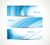 Abstract new wave three header set banners vector — Stock Vector