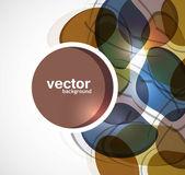 Abstract colorful circle shiny vector — Stock Vector