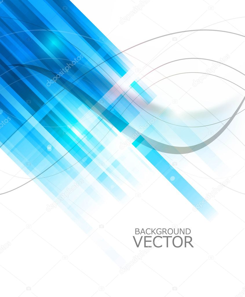Abstract technology lines blue colorful wave vector whit background  Stock Vector #10632141