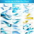 Abstract Collection Horizontal wave headers vector — Stock Vector #10652772