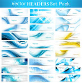 Abstract Collection Horizontal wave headers vector — Stock Vector