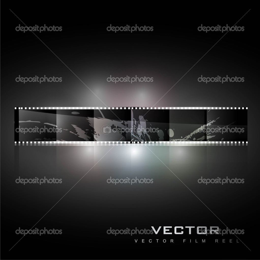 Abstract realistic vector shiny film reel background — Grafika wektorowa #10655230