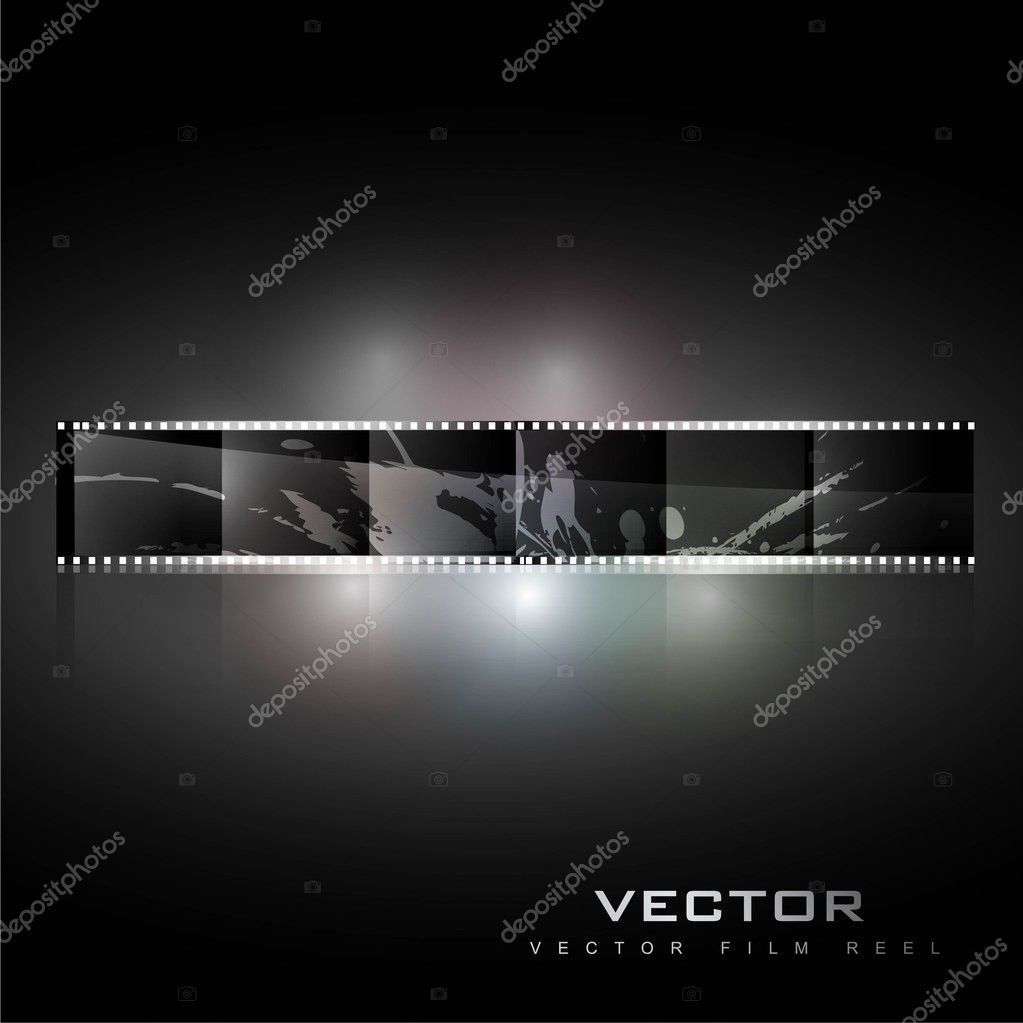Abstract realistic vector shiny film reel background  Stockvectorbeeld #10655230