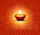 New beautiful happy fantastic diwali card — Stock Vector