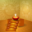 Royalty-Free Stock Vektorov obrzek: A beautiful diwali hindu festival vector