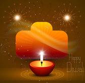красивые дивали индуистского фестиваля фон — Cтоковый вектор