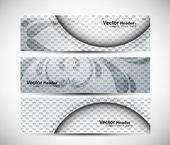 Abstract banners set vector — Stock Vector