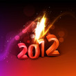 Shiny 2012 new year background — Stock Vector