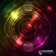 Abstract colorful circle shiny — Stock Vector