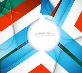 Design abstrait coloré nouvelle vague — Vecteur