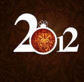 New year beautiful 2012 — Stock Vector