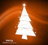 Nové vánoční stromeček vektor barevné pozadí — Stock vektor