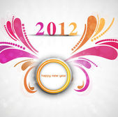 Beautiful vector new year 2012 — Stock Vector