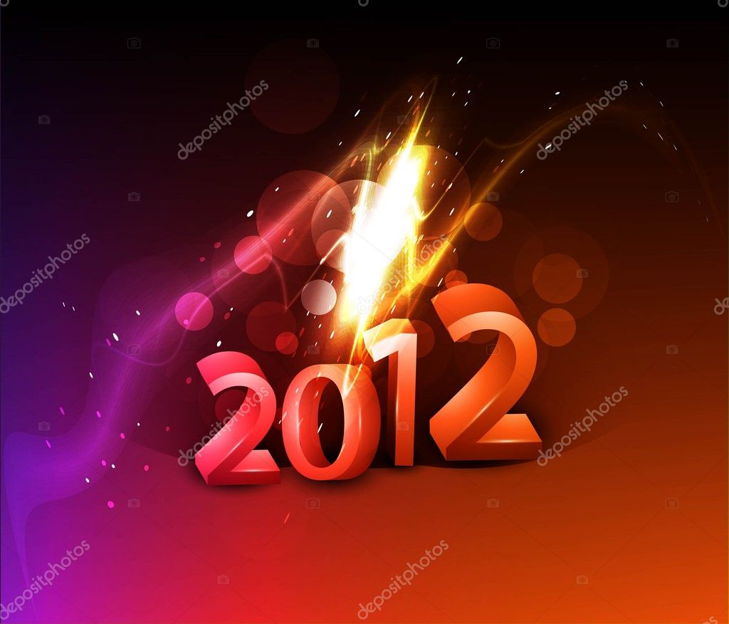 Shiny 2012 new year background — Stock Vector #9678058