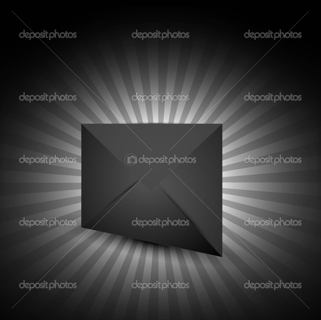 Shiny new envelope icon Vector illustration Eps 10 — Stock Vector #9678703
