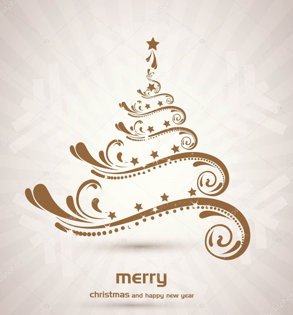 Beautiful vector christmas artistic fantastic design — Stock Vector #9678788