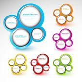 Astratto vettore sfondo di molti colori cerchio — Vettoriale Stock