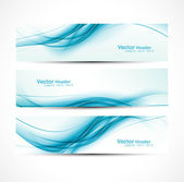 Abstract new wave header vector set — Stock Vector