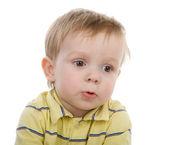 Ritratto di bambino bello raccontare qualcosa — Foto Stock