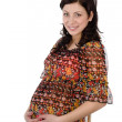 Pregnant woman in casual clothes — Stock Photo