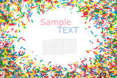 Frame made of little colorful sprinkles candy — Stock Photo