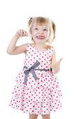 Child girl clean brush teeth — Stock Photo