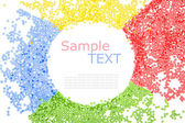 Colorful beads, circle shape space for photo or tex — Stock Photo