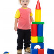 Baby boy build house. — Stock Photo #9922147