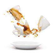 Broken coffee mug — Stock Photo