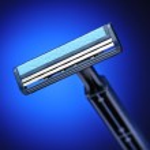 Blue shaver — Stock Photo
