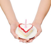 Heart-shape cake — Stock Photo