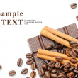 Stock Photo: Coffee, cinnamon and chocolate