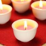 palenie świec — Zdjęcie stockowe