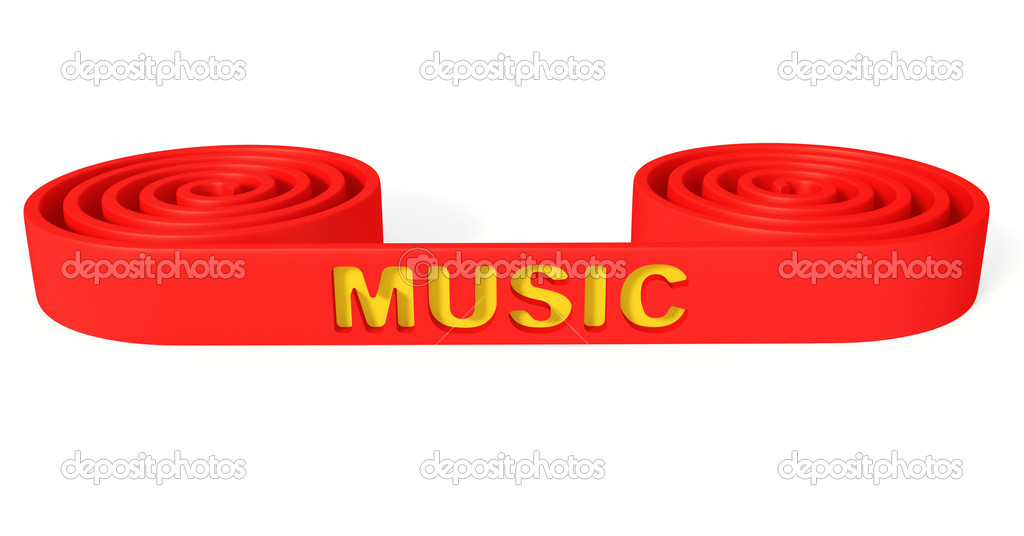 Music equipment isolated on a white background.  Stock Photo #8957591