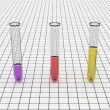 Stock Photo: Colorful Test Tube Graph