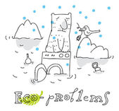 Eco problem, vector drawing Eco problem, vector drawing — Stock Vector