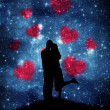 Royalty-Free Stock Photo: Lovers on the starry sky