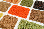 Buckwheat, peas, beans — Stock Photo